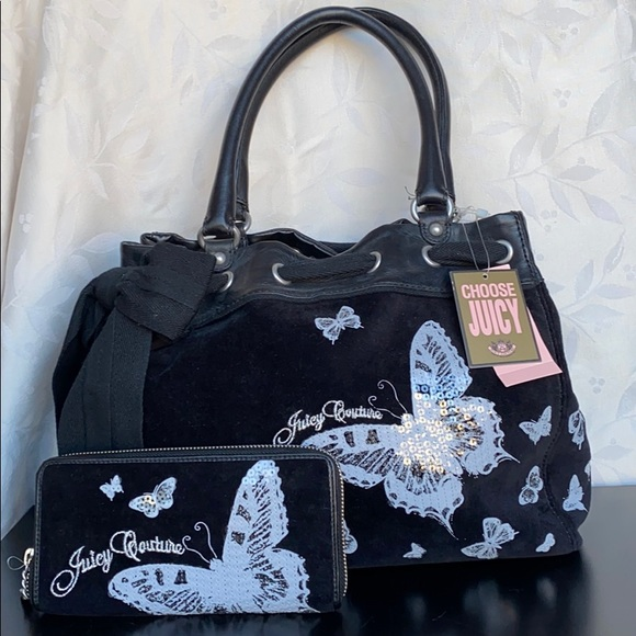 Juicy Couture Butterfly Purse with Wallet